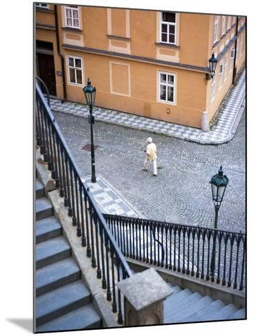 Stairs and Woman Walking, from Charles Bridge-Christopher Groenhout-Mounted Photographic Print