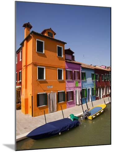 Colorful Houses and Boats on Canal-Dennis Walton-Mounted Photographic Print