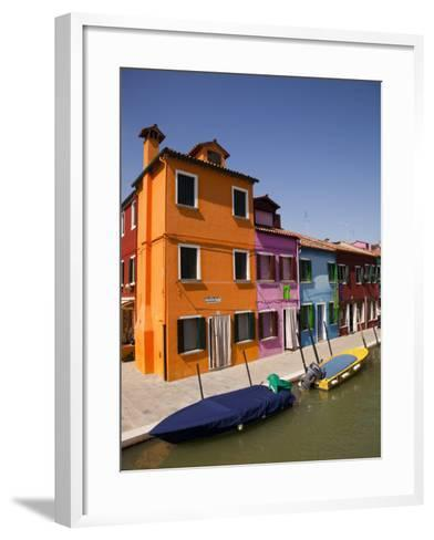 Colorful Houses and Boats on Canal-Dennis Walton-Framed Art Print