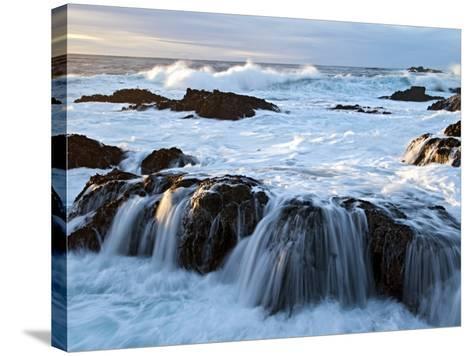 Waves Crashing O Rocks at Soberanes-Douglas Steakley-Stretched Canvas Print