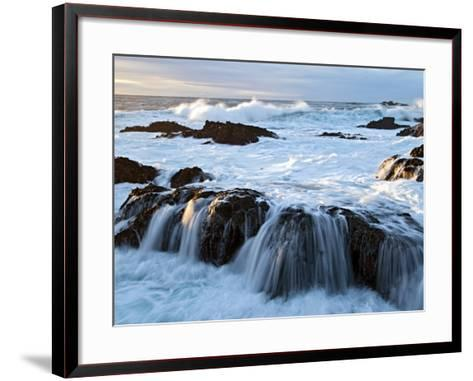 Waves Crashing O Rocks at Soberanes-Douglas Steakley-Framed Art Print