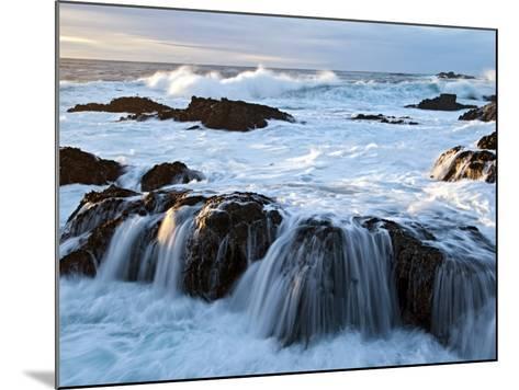 Waves Crashing O Rocks at Soberanes-Douglas Steakley-Mounted Photographic Print