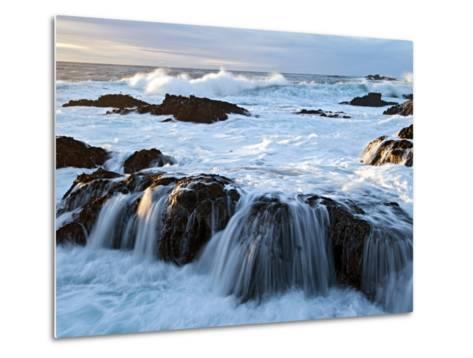 Waves Crashing O Rocks at Soberanes-Douglas Steakley-Metal Print