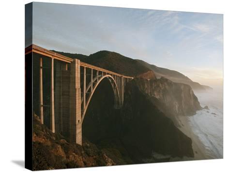 Bixby Bridge-Douglas Steakley-Stretched Canvas Print