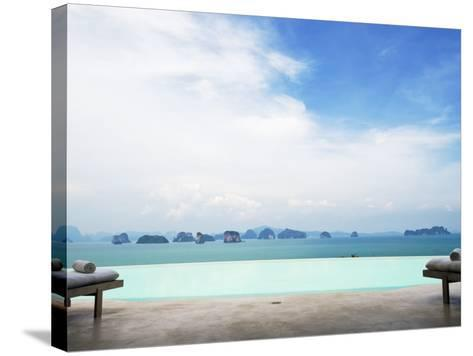 View from Infinity Pool at Six Senses Destination Spa Phuket-Christian Aslund-Stretched Canvas Print