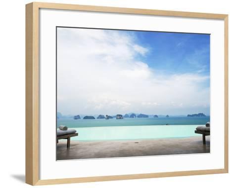 View from Infinity Pool at Six Senses Destination Spa Phuket-Christian Aslund-Framed Art Print