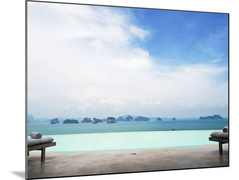 View from Infinity Pool at Six Senses Destination Spa Phuket-Christian Aslund-Mounted Photographic Print