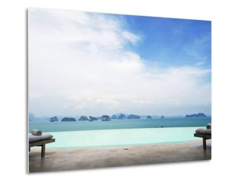 View from Infinity Pool at Six Senses Destination Spa Phuket-Christian Aslund-Metal Print