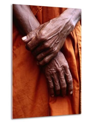 Close Up of Monk's Hands-Daniel Boag-Metal Print