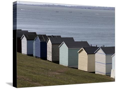 Colourful Beach Huts at the Seaside in Whitstable-Doug McKinlay-Stretched Canvas Print