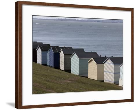 Colourful Beach Huts at the Seaside in Whitstable-Doug McKinlay-Framed Art Print