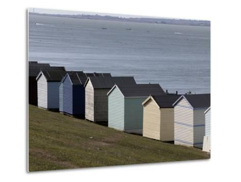Colourful Beach Huts at the Seaside in Whitstable-Doug McKinlay-Metal Print