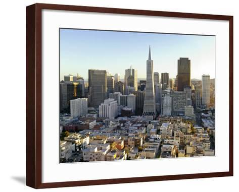 Transamerica Pyramid Building and Downtown from Top of Coit Tower-Emily Riddell-Framed Art Print