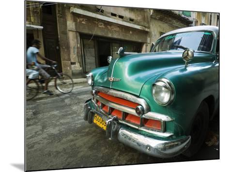 Vintage 1950's Car Parked on Street in Vedado District-Christian Aslund-Mounted Photographic Print