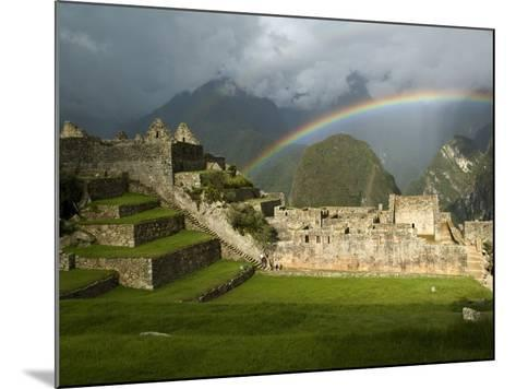 Rainbow over Incan Ruins of Machu Picchu-Emily Riddell-Mounted Photographic Print