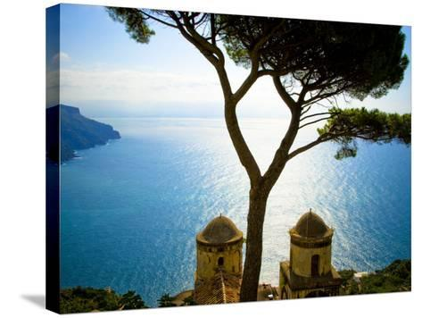 View from the 13th Century Villa Rufolo in Ravello, Amalfi Coast-Glenn Beanland-Stretched Canvas Print