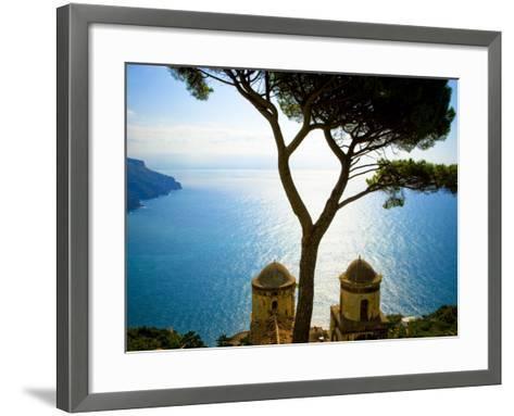 View from the 13th Century Villa Rufolo in Ravello, Amalfi Coast-Glenn Beanland-Framed Art Print