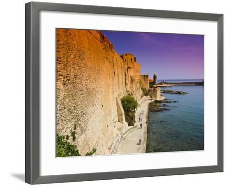 Chateau Royal and the Harbour at Collioure-Glenn Beanland-Framed Art Print