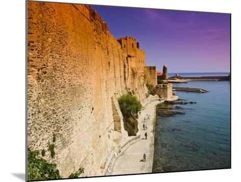 Chateau Royal and the Harbour at Collioure-Glenn Beanland-Mounted Photographic Print