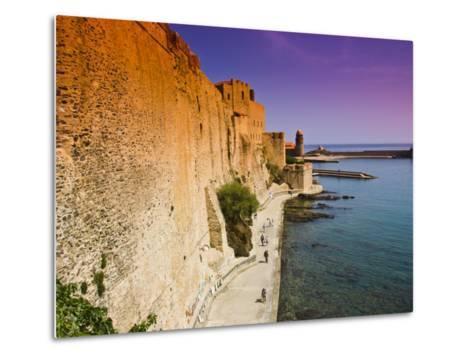 Chateau Royal and the Harbour at Collioure-Glenn Beanland-Metal Print