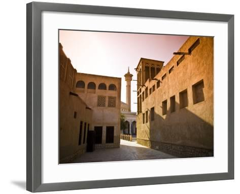 Historic Bastakia Quarter in Bur Dubai-Glenn Beanland-Framed Art Print