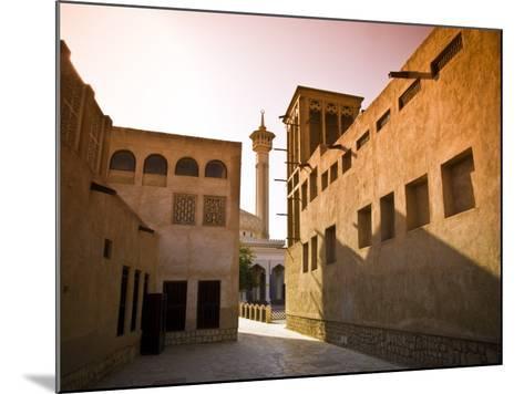 Historic Bastakia Quarter in Bur Dubai-Glenn Beanland-Mounted Photographic Print