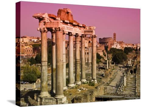 Roman Forum from Capitoline Hill-Glenn Beanland-Stretched Canvas Print