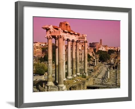Roman Forum from Capitoline Hill-Glenn Beanland-Framed Art Print