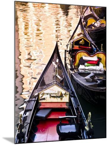 Gondolas on Canal in San Marco-Glenn Beanland-Mounted Photographic Print