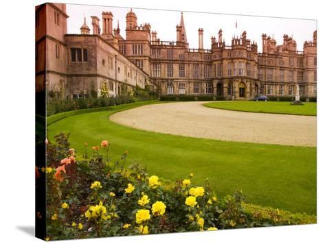 Burghley House Stately Home-Glenn Beanland-Stretched Canvas Print