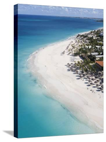 Aerial of Eagle Beach-Holger Leue-Stretched Canvas Print