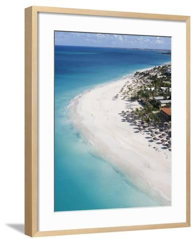 Aerial of Eagle Beach-Holger Leue-Framed Art Print