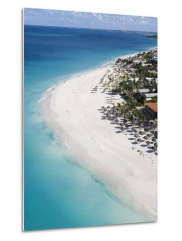 Aerial of Eagle Beach-Holger Leue-Metal Print