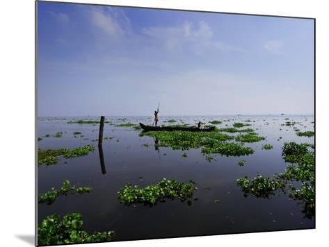 Canoe on Kerala's Backwaters-Felix Hug-Mounted Photographic Print