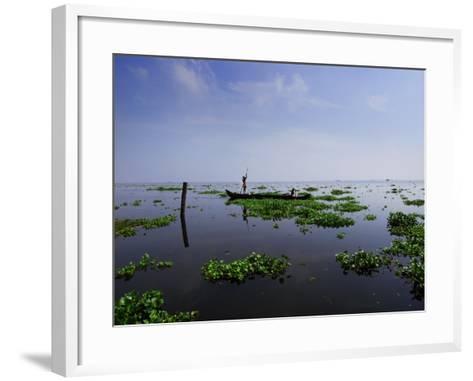 Canoe on Kerala's Backwaters-Felix Hug-Framed Art Print