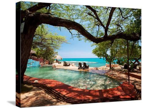 Jake's Resort, Treasure Beach-Greg Johnston-Stretched Canvas Print