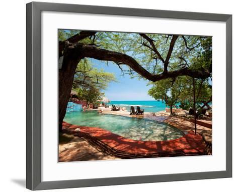 Jake's Resort, Treasure Beach-Greg Johnston-Framed Art Print