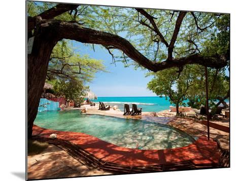Jake's Resort, Treasure Beach-Greg Johnston-Mounted Photographic Print