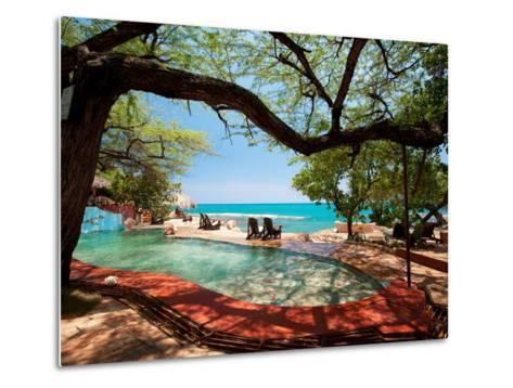 Jake's Resort, Treasure Beach-Greg Johnston-Metal Print