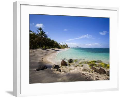 Nisbett Plantation Beach-Greg Johnston-Framed Art Print
