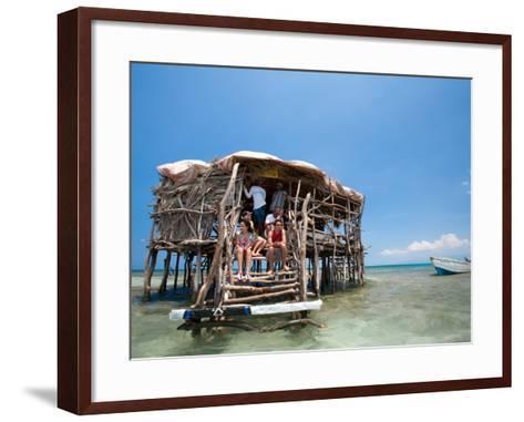 Pelican Bar-Greg Johnston-Framed Art Print