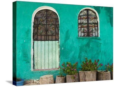 Mexican House Exterior-Guylain Doyle-Stretched Canvas Print