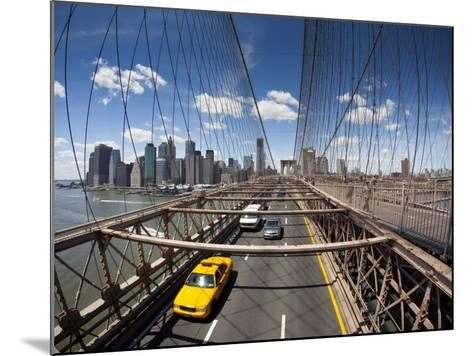 Brooklyn Bridge with South Manhattan in Background-Huw Jones-Mounted Photographic Print