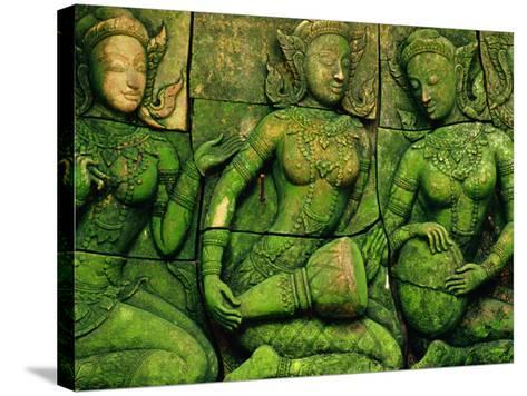 Terracotta Sculptures at Ban Phor Liang Meun Ceramics-Frank Carter-Stretched Canvas Print
