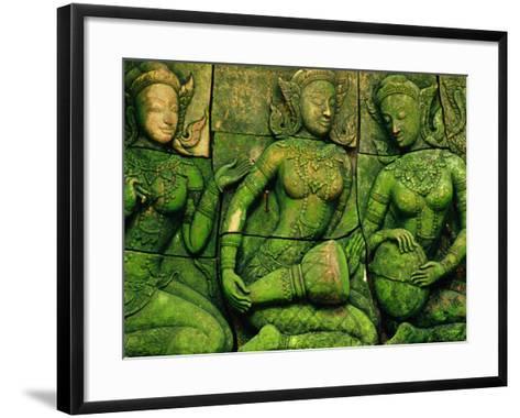 Terracotta Sculptures at Ban Phor Liang Meun Ceramics-Frank Carter-Framed Art Print