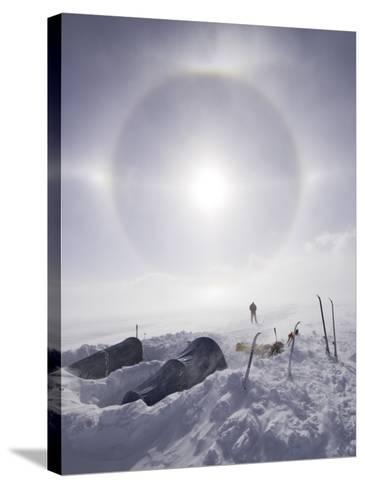 Solar Halo (Due to Blowing Snow and Ice Crystals) Above Southern Patagonian Icecap-Grant Dixon-Stretched Canvas Print