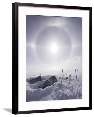 Solar Halo (Due to Blowing Snow and Ice Crystals) Above Southern Patagonian Icecap-Grant Dixon-Framed Art Print
