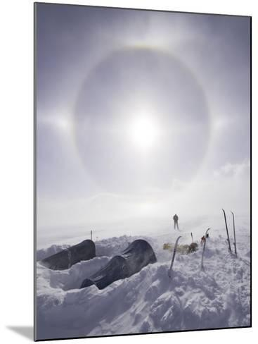 Solar Halo (Due to Blowing Snow and Ice Crystals) Above Southern Patagonian Icecap-Grant Dixon-Mounted Photographic Print