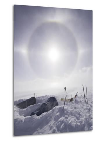 Solar Halo (Due to Blowing Snow and Ice Crystals) Above Southern Patagonian Icecap-Grant Dixon-Metal Print