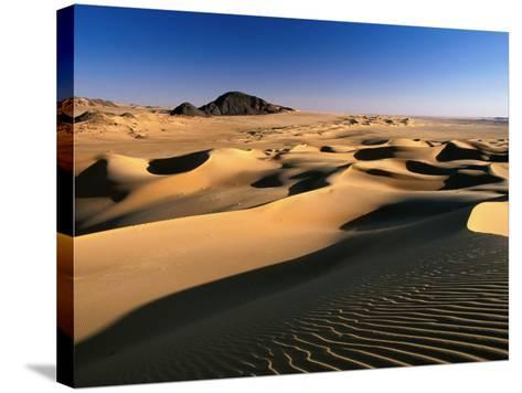 Sand Dunes of Ilekane in Tenere Part of Sahara Desert Near Agadez-Frans Lemmens-Stretched Canvas Print